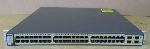 Cisco Catalyst WS-C3750G-48PS-S 48-Port PoE Gigabit Ethernet Switch 2x Stacking